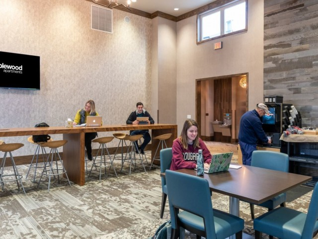 community clubhouse and study lounge area