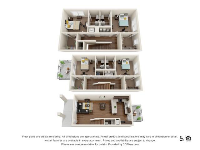 Milledge 4x4.5 | 4 bedrooms 5 bathrooms | 1,984 square feet