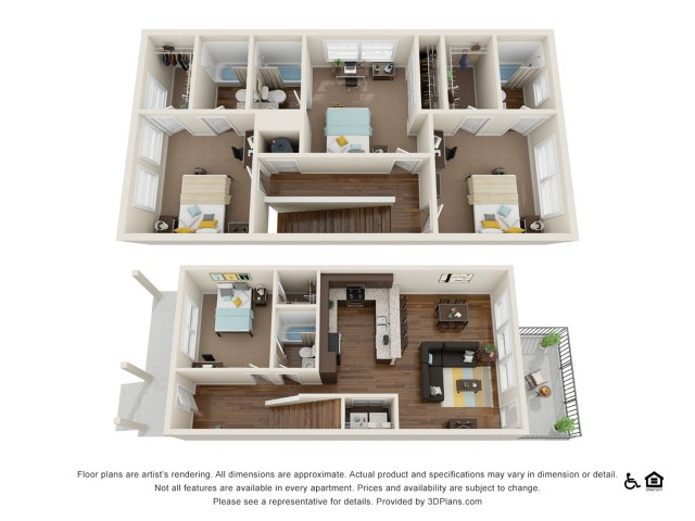 Lumpkin 4x4 | 4 bedrooms 4 bathrooms | 1,928 square feet