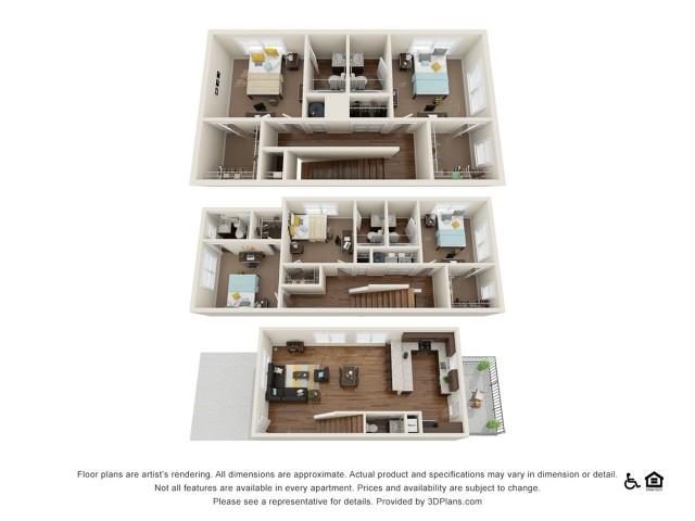 Atherton 5x5.5 | 5 bedrooms 6 bathrooms | 2,480 square feet