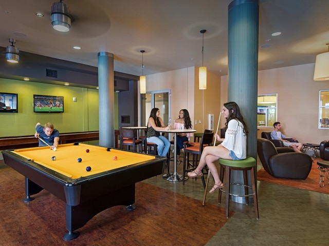 Clubroom with Billards and plentiful lounge seating