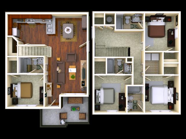 Courtyard 4 Bedroom 4 Bathroom