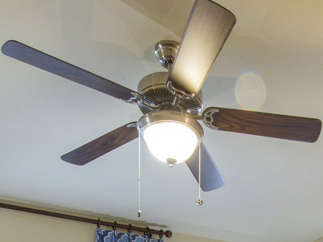 Lighted Ceiling Fans in Living and Bedrooms