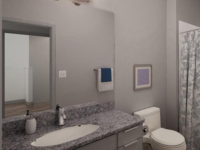 Granite Counter in bathroom