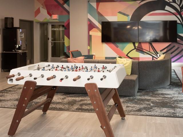 Clubroom with Billards and Shuffle Board