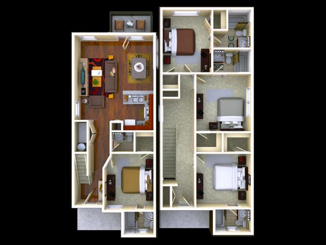 4 Bedroom / 4.5 Bathroom
