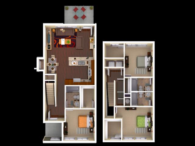 3 Bedroom / 3 Bathroom