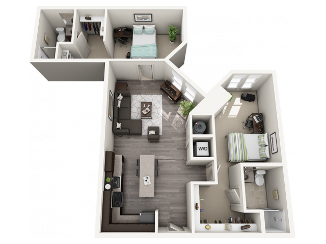 B2   2 bed 2 bath   from 996 square feet