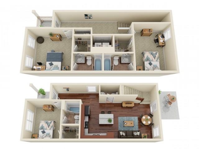 3 Bedroom / 3.5 Bathroom