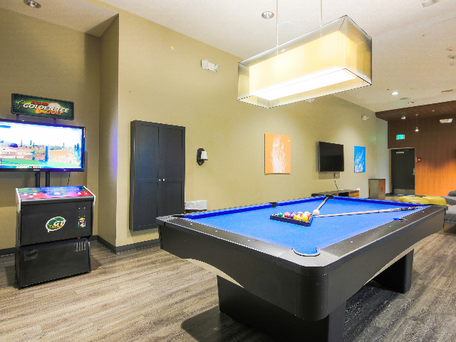 clubhouse with tv lounge