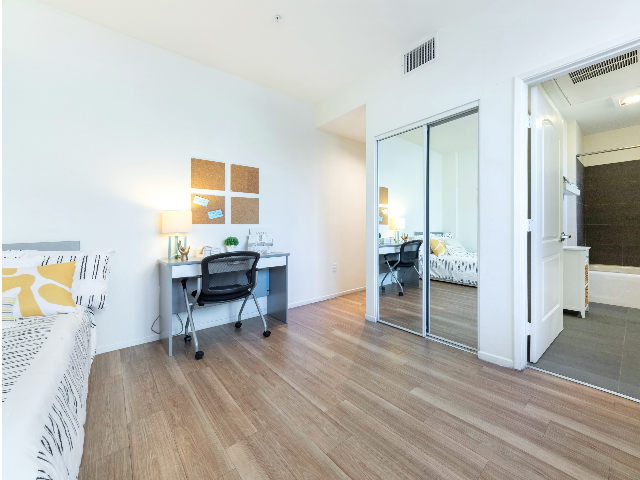 Chic Hardwood Style Flooring in apartments