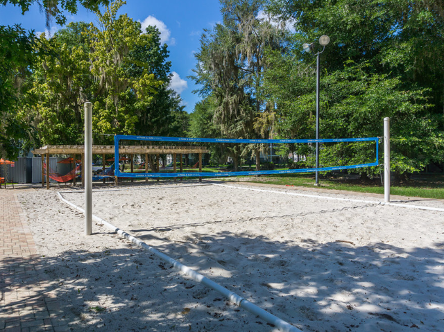Sand volleyball court at The Pavilion on 62nd