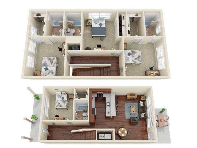 4 Bedroom 4 Bathroom Cottage
