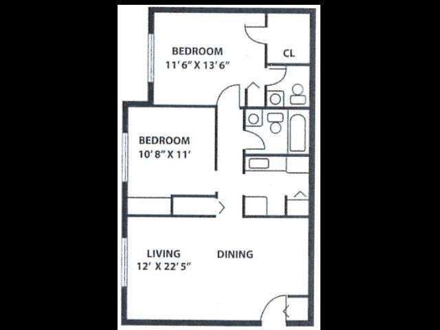 2 Bedroom BGIIB1
