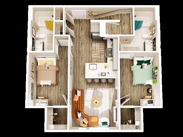 4 Bedroom 4 Bathroom Townhome