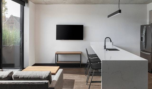 Large TV in each unit