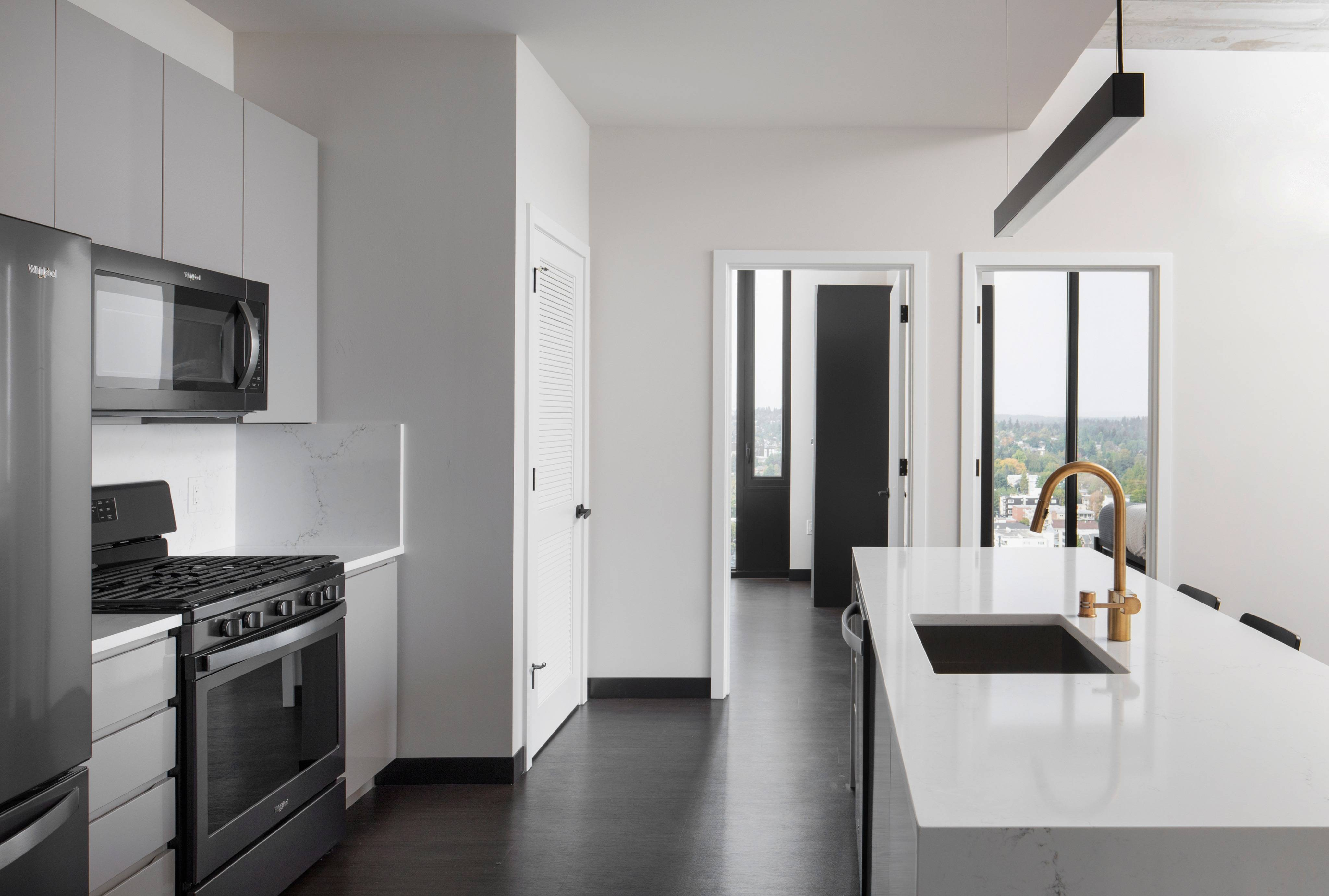 Kitchen with updated appliances