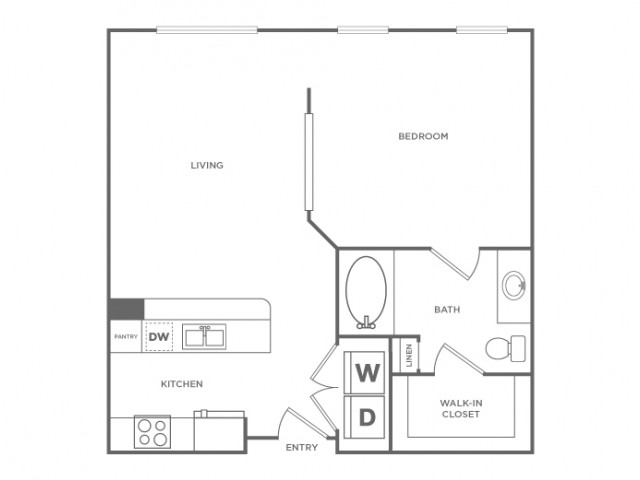 Floor Plan 2 | Energy Corridor Apartments Houston | Briar Forest Lofts