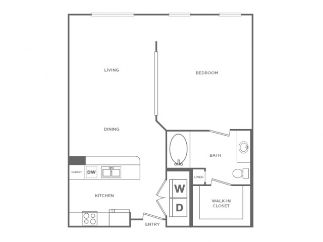 Floor Plan 4 | Apartments In Houston Energy Corridor Area | Briar Forest Lofts