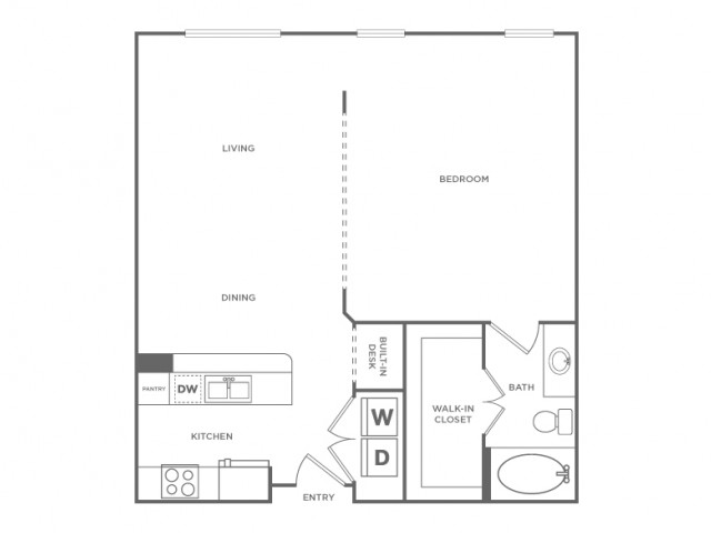 Floor Plan 5 | Houston Energy Corridor Apartments | Briar Forest Lofts