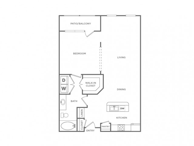 Floor Plan 8 | Apartments In Energy Corridor Houston Texas | Briar Forest Lofts