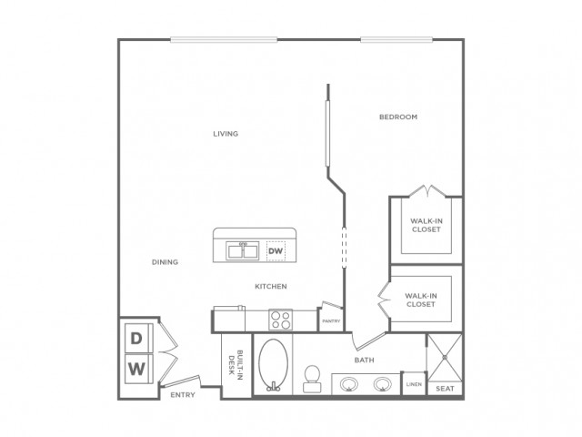 Floor Plan 9 | Apartments In Houston Energy Corridor Area | Briar Forest Lofts