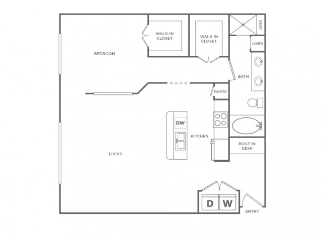 Floor Plan 12 | Energy Corridor Apartments Houston | Briar Forest Lofts