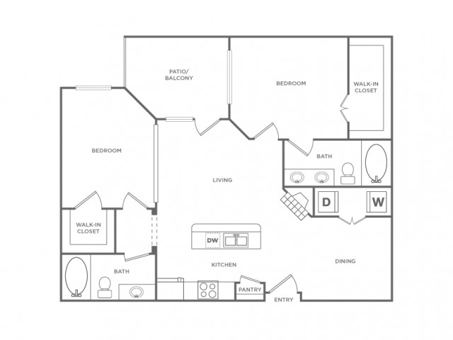 Floor Plan 13 | Apartments In Energy Corridor Houston Texas | Briar Forest Lofts
