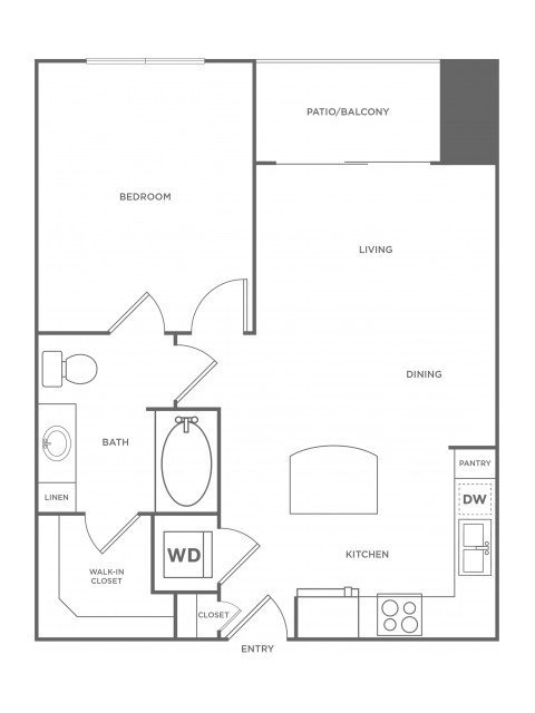 A1 | 1 bed 1 bath | from 650 square feet