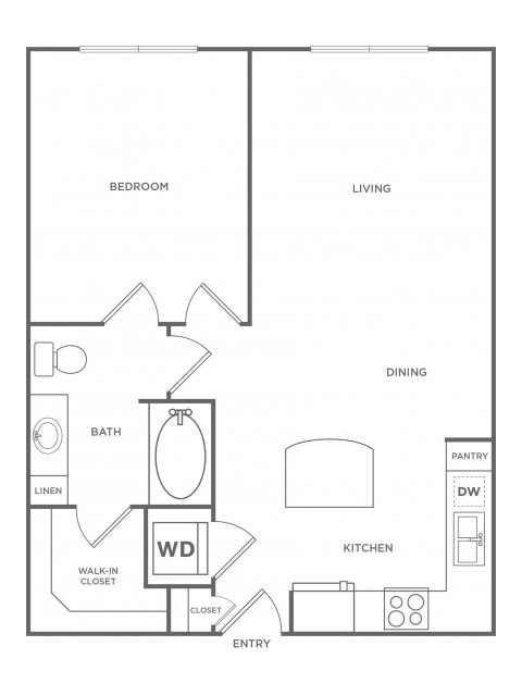 A1s | 1 bed 1 bath | from 714 square feet