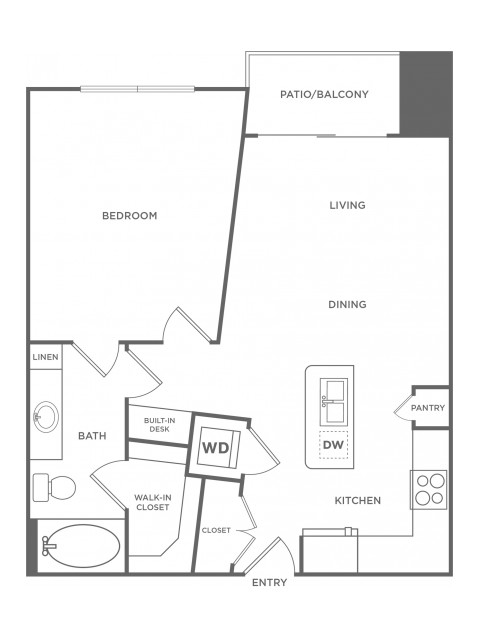 A2 | 1 bed 1 bath | from 738 square feet