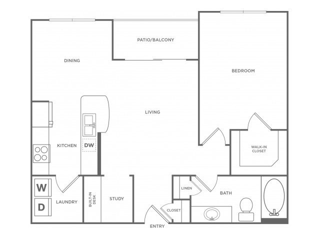 A3 | 1 bed 1 bath | from 811 square feet