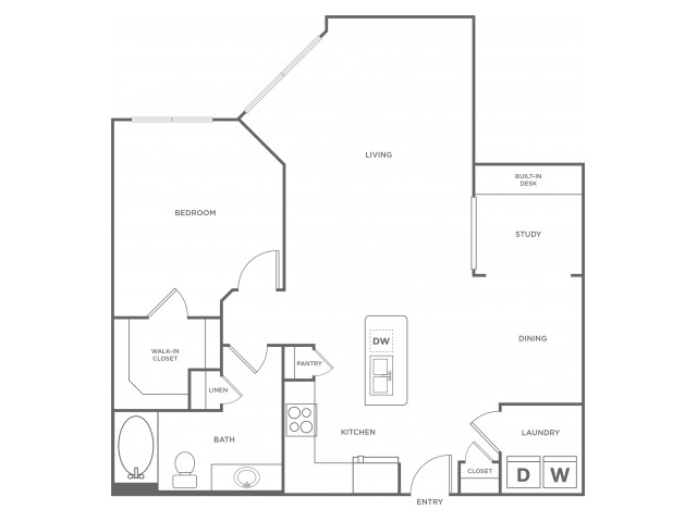 B2s | 1 bed 1 bath | from 1047 square feet