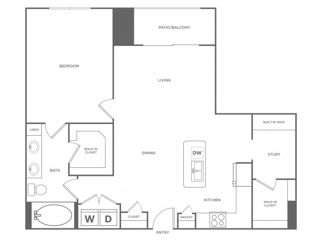 C1alt3 | 1 bed 1 bath | from 950 square feet