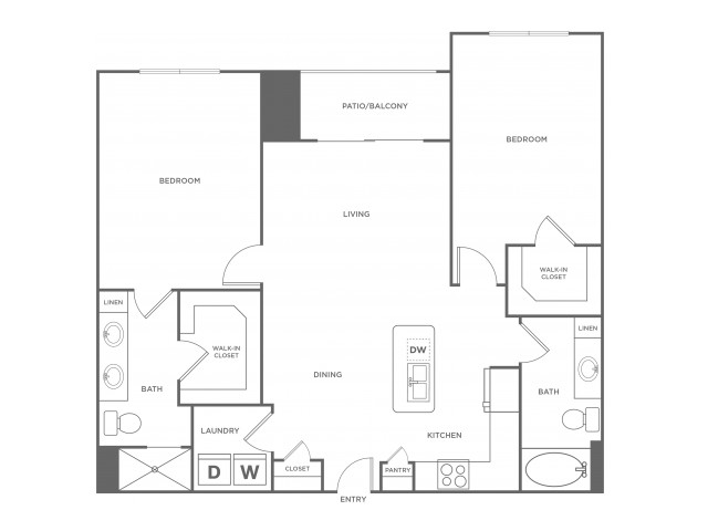 C1 | 2 bed 2 bath | from 1146 square feet