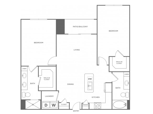 C1alt | 2 bed 2 bath | from 1171 square feet
