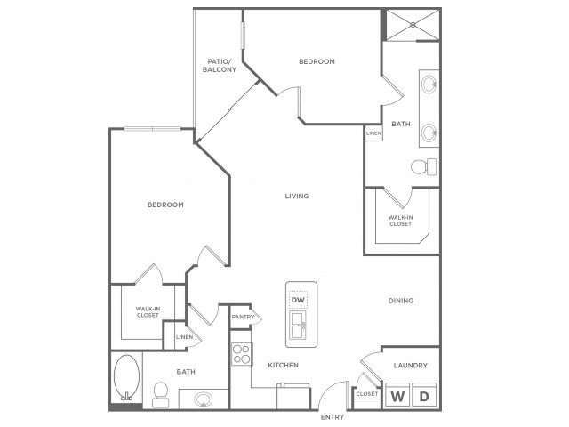 C2alt/C2alt4 | 2 bed 2 bath | from 1273 square feet