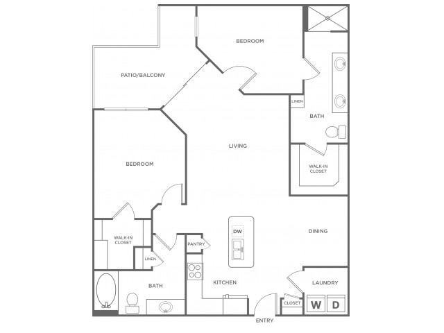 C2alt2 | 2 bed 2 bath | from 1291 square feet