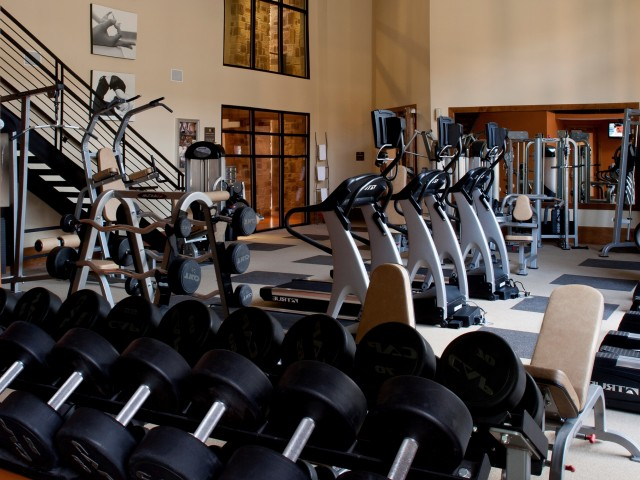 Image of Fully-equipped fitness center for Fitzhugh Urban Flats