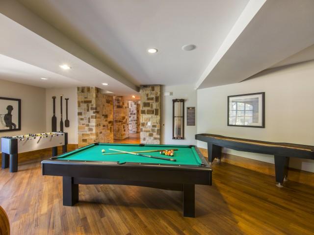 Image of Gaming hub with billiards, shuffleboard and foosball for Fitzhugh Urban Flats