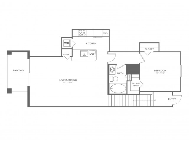 Pompano | 1 bed 1 bath | from 829 square feet