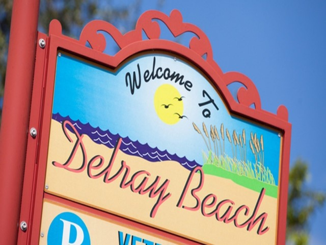 Downtown Delray Beach, exterior, sign