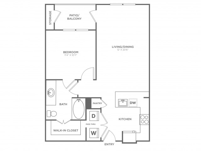 The Houston | 1 bed 1 bath | from 708 square feet