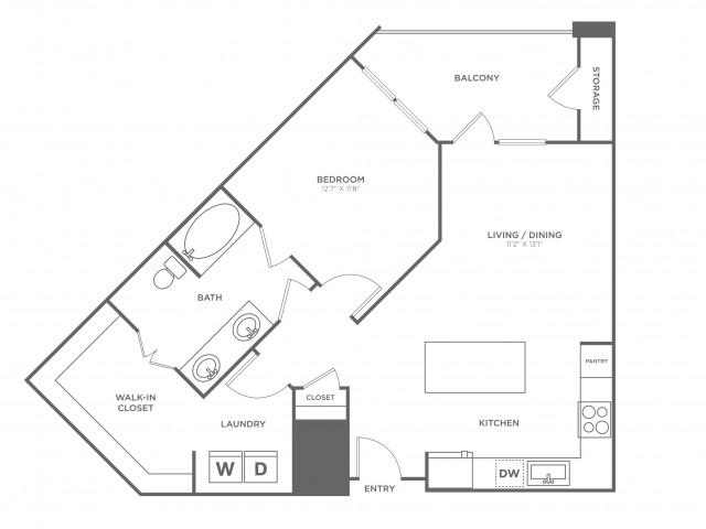The Throckmorton | 1 bed 1 bath | from 826 square feet