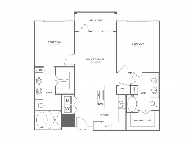 The Ferguson | 2 bed 2 bath | from 1099 square feet