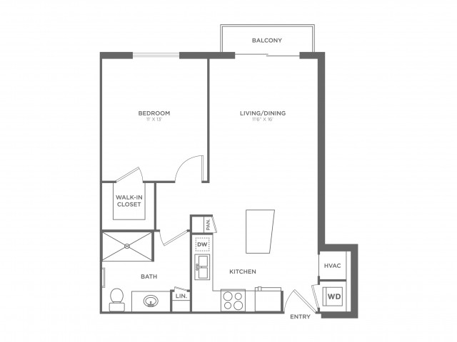 Van Gogh | 1 bed 1 bath | from 668 square feet