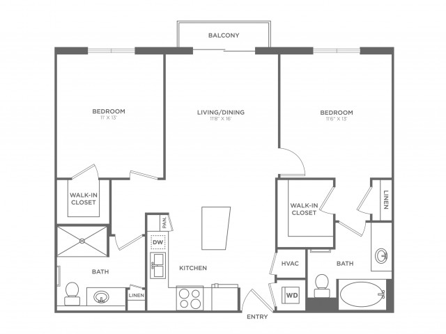Picasso | 2 bed 2 bath | from 989 square feet