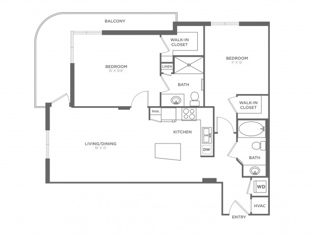 Modell | 2 bed 2 bath | from 1102 square feet