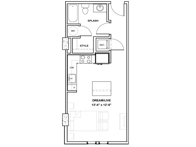 The Perot Tower | Studio1 bath | from 492 square feet
