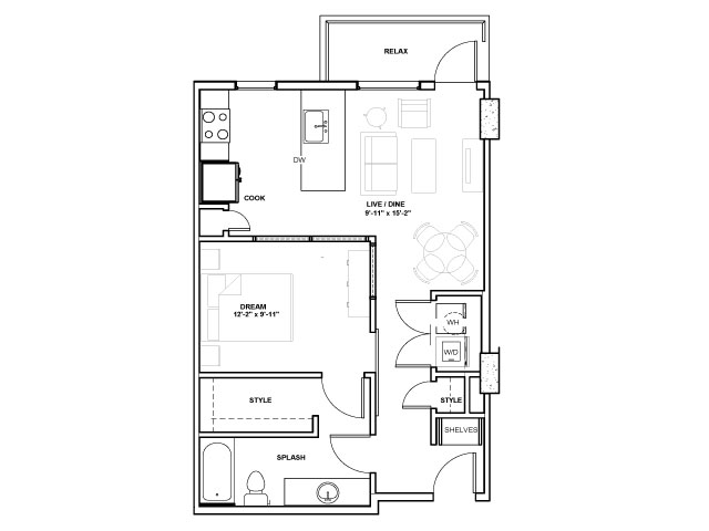 The Nasher Tower | 1 bed 1 bath | from 669 square feet